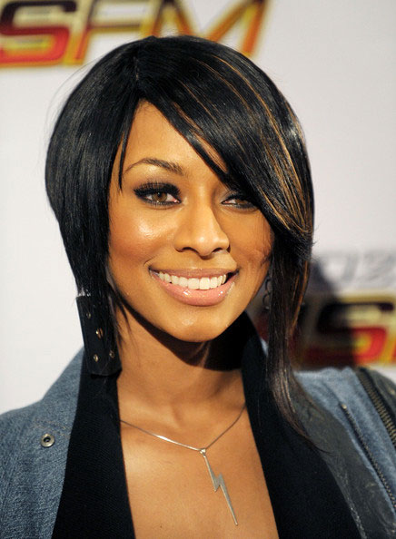 photos coiffure keri hilson carre mi long degrade